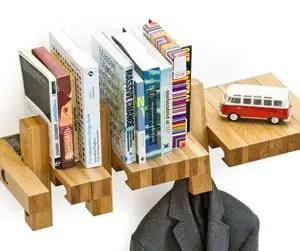 bookshelf coat rack combo