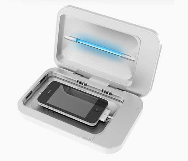PhoneSoap cleans and charges your smartphone