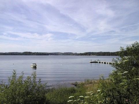Angeln am See auf Hecht vom Steg aus