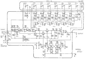 Boss GE7 Equalizer guitar pedal schematic diagram