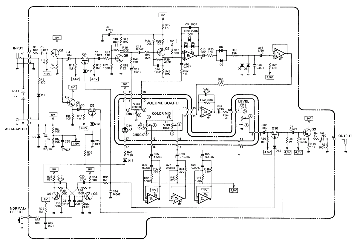Boss Hm 2 Heavy Metal Pedal Schematic Diagram