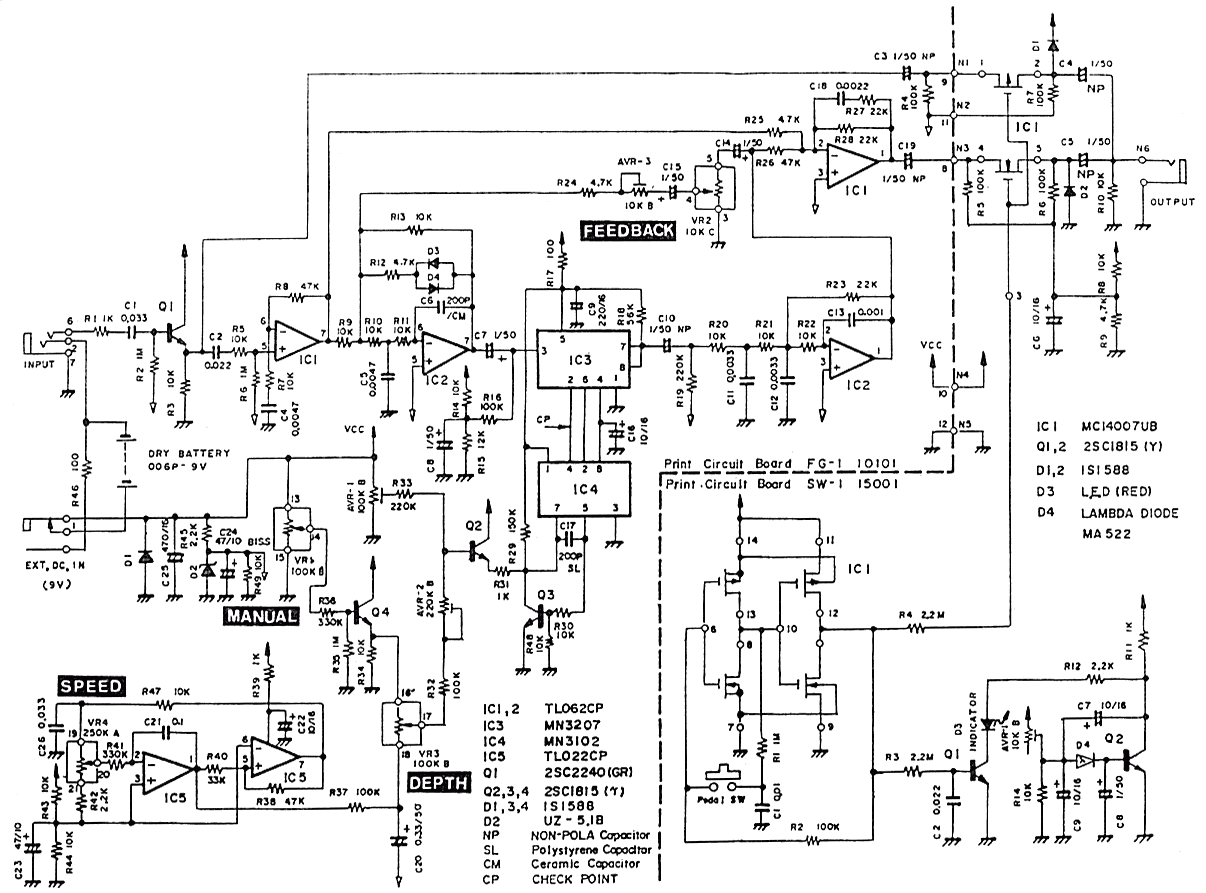 Phase Shifter Guitar Pedal Schematic