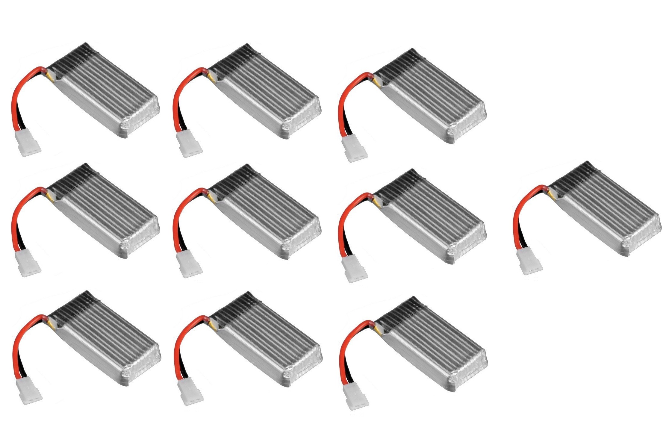 10 X Quantity Of X Drone Nano H107r Battery 3 7v 380mah