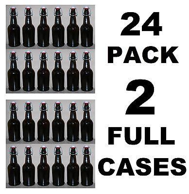 Beer Bottles 24 Ez Cap Amber Glass Swing Top Soda 16oz