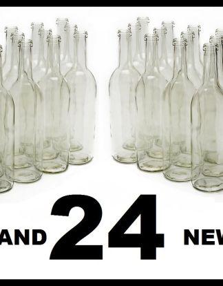 750 ml Clear Glass Claret/Bordeaux Bottles, 12 per case
