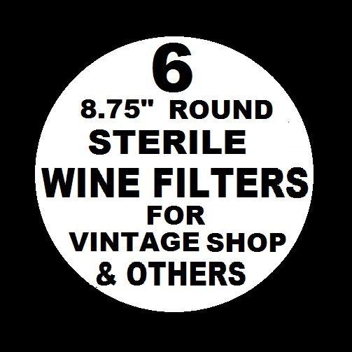 6 WINE FILTER PADS STERILE 8.75″ ROUND FOR VINTAGE SHOP VINAMAT ...