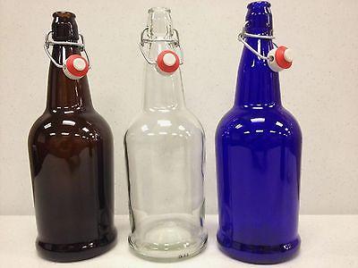 Beer Bottles 12 Ez Cap Amber Glass Swing Top Soda 16oz 500ml Flip