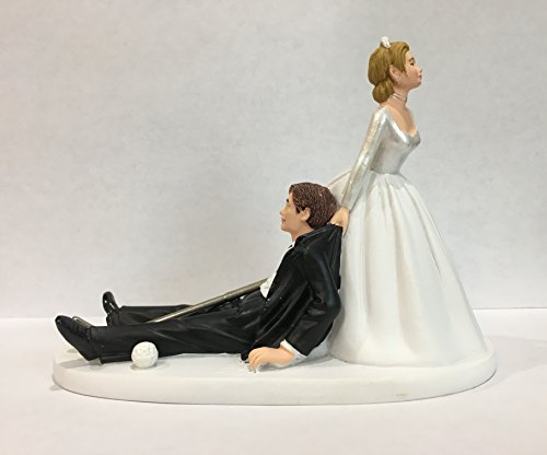 Bride And Groom Golf Wedding Cake Topper Funny Golf
