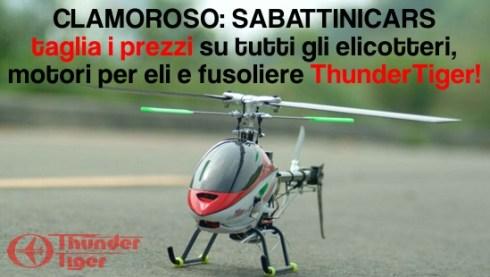 SabattiniCars taglia i prezzi degli elicotteri telecomandati