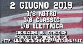 Racing Mini Car Prato: 1/8 Nitro, Classic e Brushless