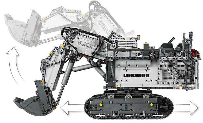 Escavatore LEGO Technic Liebherr R9800 - 42100