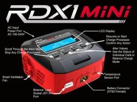 HitecRDX1 Mini: carica batterie compatto NiMH/LiPo