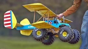 Ecco un incredibile MONSTER Truck volante!
