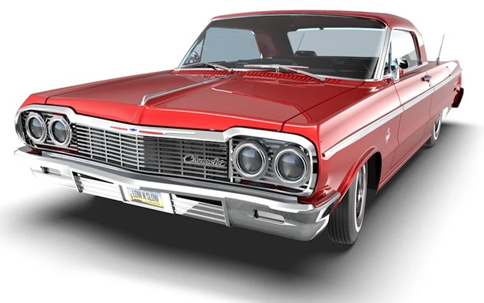 Redcat- 1964 Chevrolet Impala SS Lowrider red 1