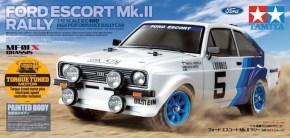 Tamiya: Ford Escort Mk II Rally su telaio MF-01X