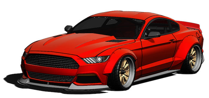 mst carozzeria lbmt ford mustang