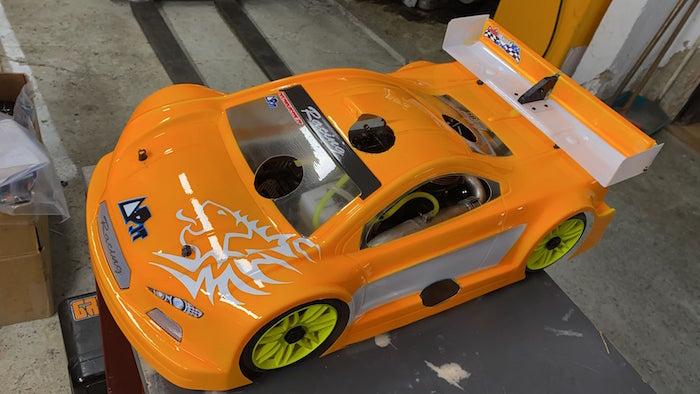Delta Plastic- Prototipo di Alettone DRS per automodello GT