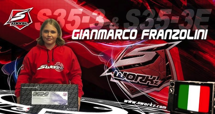 The young Italian pilot Gianmarco Franzolini joins SWORKz