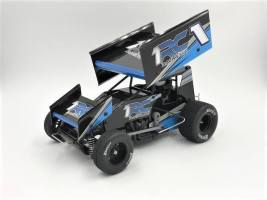 1 RC Racing: 1/18 scale Oval Racing Sprint Cars