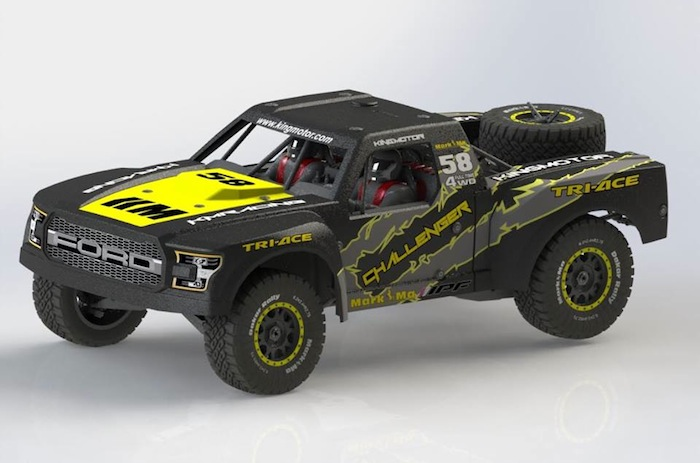 KM Challenger 1/6 rear axle truck by Traction Hobby