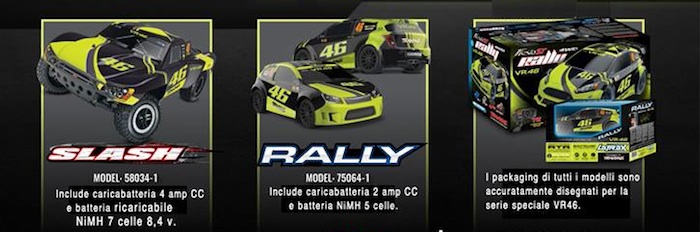 Traxxas VR46: Slash and Rally Valentino Rossi edition!