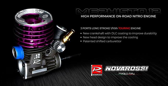 Novarossi Mephisto 12 3 Ports On-Road Engine - Hobbymedia