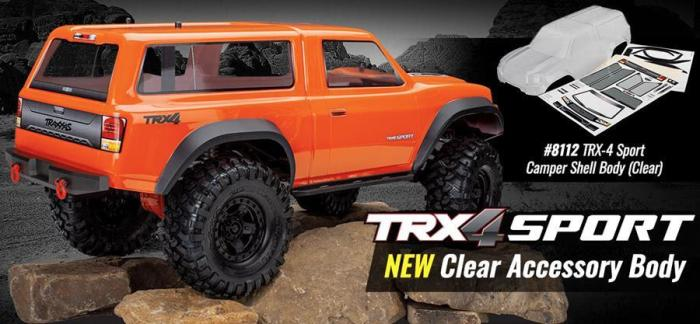 Traxxas: clear camper body for the TRX-4 Sport