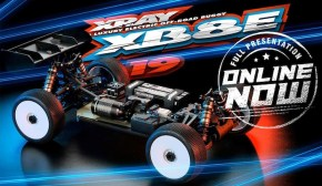 XRAY: XB8E 19 - New 1/8 scale electric racing buggy