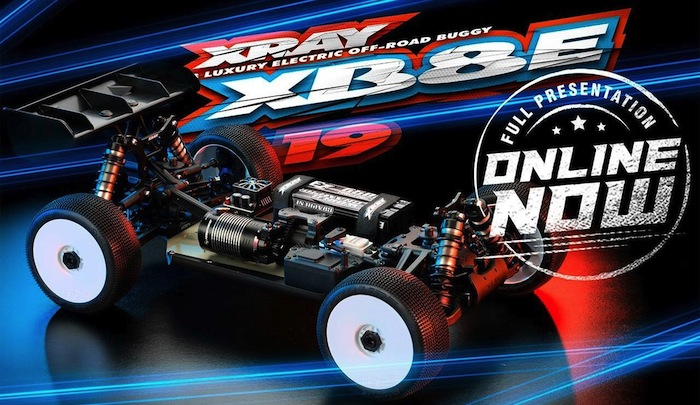 XRAY- XB8E 19 - New 1_8 scale electric racing buggy online
