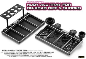 HUDY Aluminum Tray for Diff & Shocks