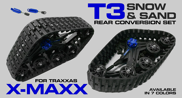 Integy T3 Snowmobile Tracks for Traxxas X-Maxx - Hobbymedia