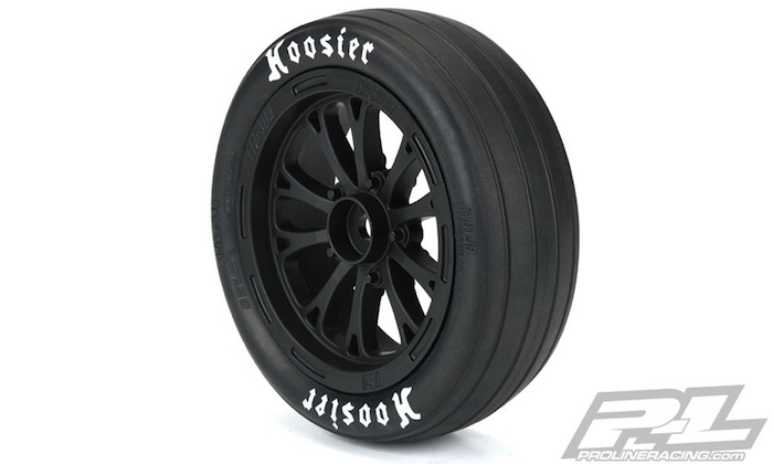 Pro-Line Pomona Drag Spec Black Front & Rear Wheels