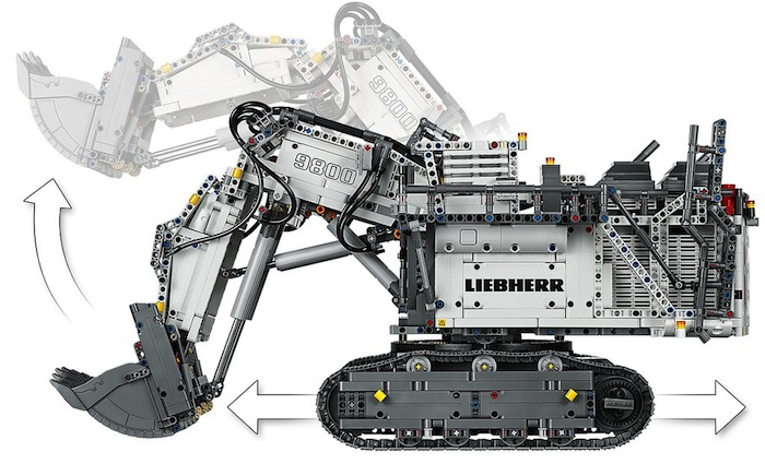LEGO Technic: Liebherr R9800 Excavator (42100)