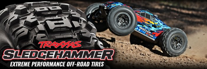 Traxxas: Sledgehammer Tires for Rustler 4X4