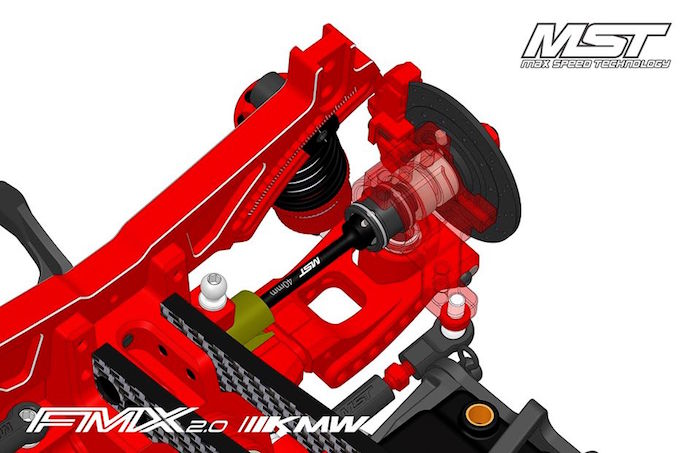 MST: FMX 2.0 KMW Drift Car Kit - CAD
