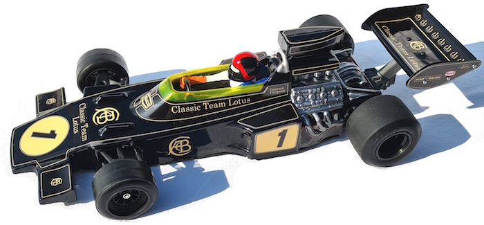 Fenix Racing are proud to introduce the Classic Team Lotus 72, which is fully licensed and approved by Classic Team Lotus. In 1970 Team Lotus was ready to amaze F1 with the Lotus 72, the wedge shape inspired by the Indy's Lotus 56 with the radiators moved on the side, and so good that is was campaigned by the Lotus team from 1970 until 1975. In that time it took 2 World Driver's championships, 3 World Constructor championships and 20 Victories. This replica body shell is 1/10 scale and can be used on Fenix Racing Classique 2 and F1-70. as well as the Tamiya F103 & F104.