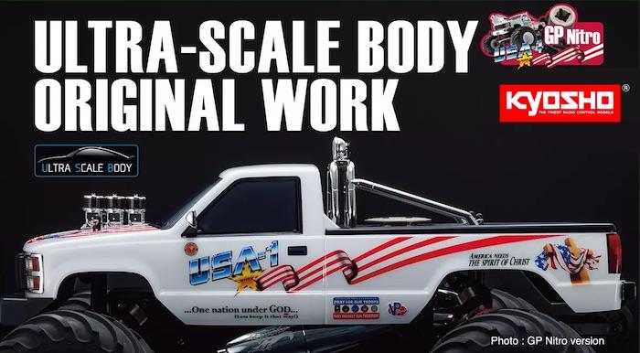 Kyosho- USA-1 Monster nitro truck video