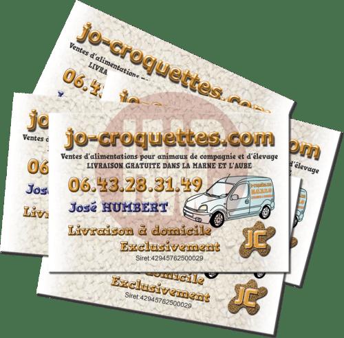 Exemples de cartes de visite