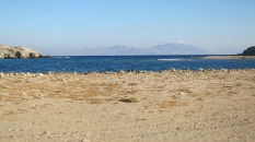 On Delos looking back towards Mykonos, I think
