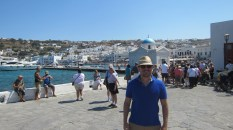 Me and the Mykonos Greeks - most likely they're all tourists like us