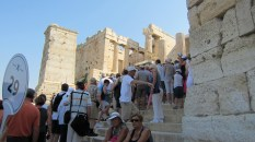The main staircase that leads up into the Acropolis