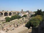 View from the Palatine into the ancient Roman Forum