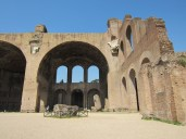 The ruined Basilica of Constantine