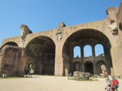 Enormous domed structure that collapsed in the same earthquake that ruined much of the Colosseum