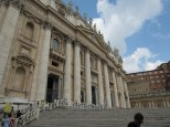 The front entrance to St Peters - you can't see the dome from here as we're obviously too close