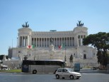 It's quite a massive structure, and effectively hides the whole Campidoglio behind it