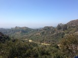 Hiking trails up by the Griffith Observatory