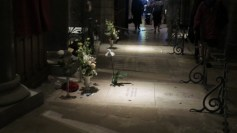 The flowers are on Grace Kelly's crypt