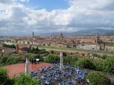 And we were treated to the best overlook of Florence