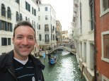 Larry and a Venetian canal